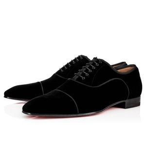 [Оригинальная Коробка] Мода Красное Дно Обувь Greggo Orlato Оксфорд Обувь Мужчины Женщины Прогулки Квартиры Свадьба Мокасины Обувь 38-46
