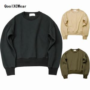 QoolXCWear 2018 nova temporada WEST FOG Sweatshirts, hoodies dos homens sólidos simples oversize caídas topos ombros dos homens