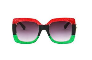 Top quality New grande quadro óculos de sol 0083 pouco show de abelha óculos tricromáticos modelos de explosão óculos de sol Com caixa original