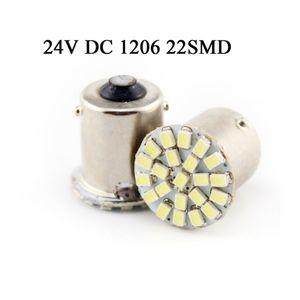 100X 24V LED Bulb Car Auto Front Lights 1156 22SMD P21W BA15S Brake Lights Turn Lights Parrking Lamp