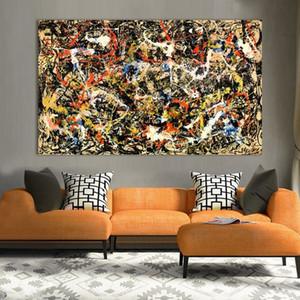 Jackson Pollock Convergence Moderna Pittura A Olio Su Tela HD Stampa Wall Art Decor per Soggiorno Decorazione Domestica Incorniciato / Senza Cornice