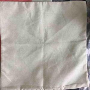 échantillon toile de coussin vierge en lin de coton de couleur claire et naturelle, une taie d'oreiller vierge de 90 g peut fournir un motif personnalisé pour imprimer votre motif.