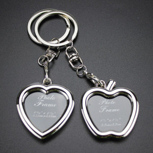 Photo Frame Lovers Key Chain - الأزياء الإبداعية الحب سلسلة المفاتيح مفتاح الدائري نوعية جيدة للرجال والنساء هدية مجوهرات # 17017