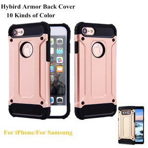 For Samsung Note 8 S8 Plus Shell Hybrid Armor Cases Phone Back Cover for iPhone X 6 6S Plus 8 7 Plus Hard Rugged Impact Silicon Cover Fundas