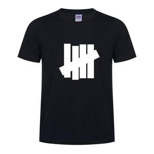 Camicie Undefeated T per gli uomini Moda manica corta T Shirt 5 colori stampati Tees personalizzata estate magliette casual