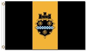 Heißer Verkauf Digitaldruck Pittsburgh City Flagge 3x5ft Polyester Banner 150x90 cm Benutzerdefinierte Flagge von Pittsburgh