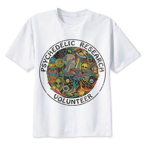 Großhandels-Forschungs-freiwilliger T-Shirt Männer nehmen flippiges buntes Druck trippy T-Shirt männliches Vintages T-Shirt Schädel lustige Spitzen-T-Stücke ab