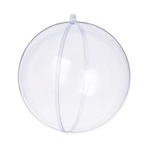 9cm / 10cm Şeffaf Plastik Doldurulabilir Süsler Topu Şeffaf Çiçek Topu Festivali Süsleme Noel Boş Plastik topu Asma