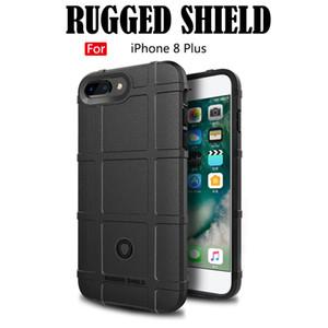 À prova de choque caso armor rugger para iphone 7 8 7 plus 8 plus anti skid tpu fosco fosco silicone telefone móvel capas