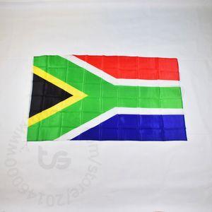Sud Africa / Sud Africa bandiera nazionale di trasporto libero 3x5 FT / 90 * 150cm Hanging Bandiera nazionale Sudafrica decorazione domestica banner bandiera