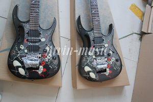 Atacado de Alta Qualidade JEM 7 V preto e Padrão fingerboard Guitarra Elétrica, frete grátis