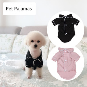 Small Dog Apparel Mantel Pet Puppy Pyjamas Schwarz Rosa Mädchen Pudel Bichon Teddy Kleidung Weihnachten Baumwolle Boy Bulldog Softfeeling Shirts Winter