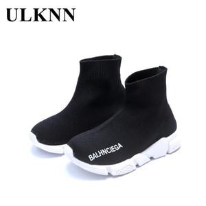 ULKNN Crianças Sapatos Meninas Meninos Sapatos Crianças Sneakers Malha Leve Respirável Meias Sapatos Sneaker Para Bebê Escola Sapato Hot INS