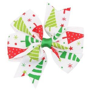 20pcs neonate bambini accessori per capelli di Bowknot di Natale tornante copricapo ornamenti stampa Barrettes Jy27a regalo Horquillas