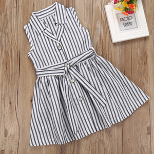 2017 New High Quality Lovely Striped girls dresses Baby Girl Princess Dress kids girls clothing summer children party dresses