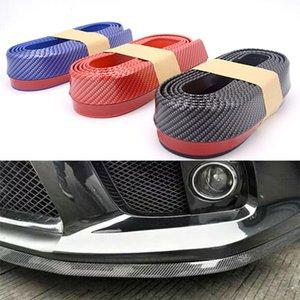 Yüksek Kaliteli Araba Ön Tampon Dudak Gummed Bant Bantlar Karbon Fiber Splitter Spoiler Valance Vücut Koruyucu Araba Styling