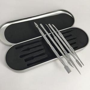 106-121mm Balmumu dabber Dabbing dabber aracı alüminyum kutu ile Paslanmaz Çelik Temizleme Aracı için balmumu kuru ot buharlaştırıcı atomizer cam boru