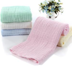 soft soild multi layers cotton gauze towel Soft folds Medical use gauze blanket bath towel summer blanket baby swaddle