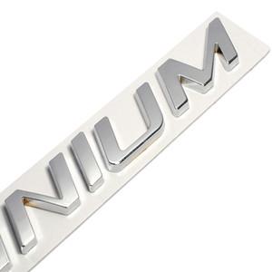 Neue 3D Metall Zink Legierung TITANIUM Logo Emblem Abzeichen Aufkleber Auto Aufkleber Auto Schwanz Aufkleber für Ford Focus 2 Fiesta Kuga RAND