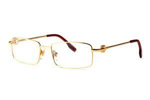 New Fashion Desinger Occhiali da vista Uomo Marca Occhiali da sole Full Alloy Metal Frames Buffalo Horn Occhiali Eyewear occhiali uomo bril monturas