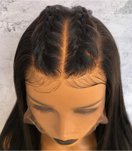 Premier 360 Perruques de cheveux humains en dentelle pleine dentelle Partiing Brésilien Vierge Vierge Human Perruques Yaki Droit 150% Densité Dentelle Perruques