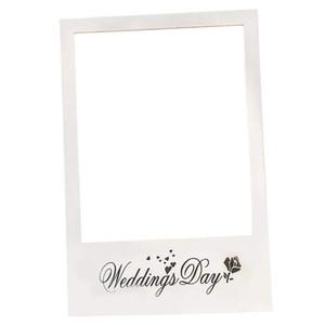 fai da te cabina cabina di foto di nozze cornice giorno di carta fotografica puntelli Buon giorno delle nozze Picture selfie frame Sfondo decorazione del partito