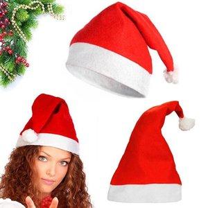 빨간 산타 클로스 모자 울트라 부드러운 봉제 크리스마스 코스프레 모자 크리스마스 장식 성인 크리스마스 파티 모자