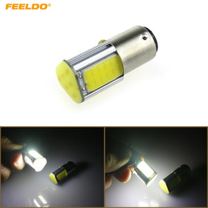 FEELDO 10PCS Car Auto White 12V COB 42SMD 42Led 1157 BAY15D Car Turn Lamp Backup LED Light #5360