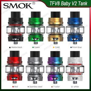 Atomiseur de réservoir SMML TFV8 Baby V2 5ML avec Baby V2 A1 A2 bobines plus rapides de chauffage Massif Vapor Conception antibactérienne anti-fuite 100% Original