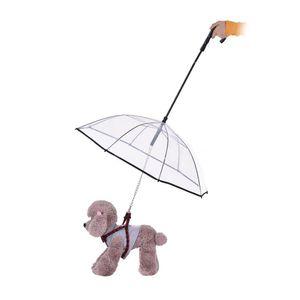 Cão de Estimação Transparente Folding Puppy Umbrella para Pequenos Cães Filhotes Pequeno Cão Umbrella Rain Gear Dog Leads