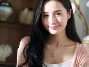 Romanntic Love Wish Drifting Bottle en forma de corazón colgantes de cristal collar de joyería femenina Bohemia collar para mujer