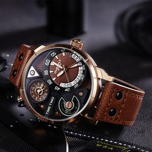스포츠 최고 브랜드 럭셔리 석영 시계 EYKI 유명 브랜드 쿼츠 시계 시계 가죽 스트랩 남성 손목 시계 Relogio Masculino Reloj