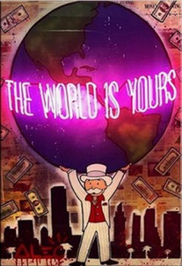 Peinture Monopoly Alec Huile sur toile art Graffiti Le monde est à vous peint à la main en toile HD Imprimer Wall Art Décoration intérieure multi Tailles G179
