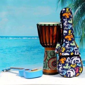 Los niños hermosos regalos concierto portátil 23 24 bolso del ukelele pequeña guitarra colorida caja de la mochila de gig suave acolchado uku ulelele cubierta