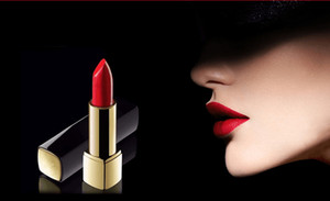 Epacket frete grátis mais recente maquiagem de alta qualidade 4 cores rouge batom fosco luminoso de alta qualidade Pressione o tubo de alumínio batom