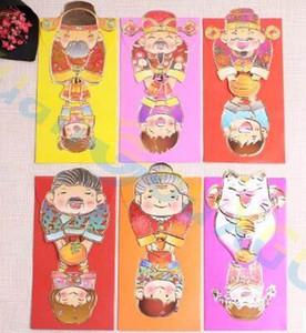 3D Cartoon God of Wealth 2019 año nuevo chino festival de primavera Sobre rojo paquete de dinero de regalo fiesta de bolsillo bolsillo afortunado bolsa de dinero