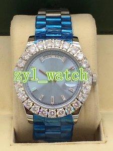 Prong Set Diamond Boutique Reloj para hombre Reloj de acero inoxidable de negocios de moda de lujo Reloj mecánico automático de marca mundialmente famosa