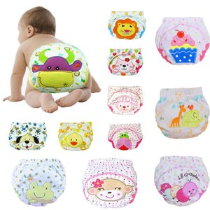 Baby Nappies Cloth Diaper Reusable Diapers Waterproof Diaper Cover Newborn Washable Nappies Catoon Print Breathable Diaper 10pcs