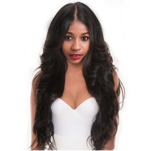 Top Quality hot long Loose wave wig Simulation Human Hair Wave Full Wig for women free shipping in stock