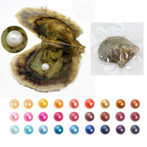 2018 Akoya natural del agua de mar redondo solo perlas de ostras cultivadas al por mayor de los granos flojos de la perla de mejillón fresco Oyster Farm Supply Dropshipping