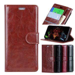 Étui portefeuille de haute qualité en cuir PU avec étui à rabat pour Samsung Galaxy A8 A7 A6 J7 2018 Note 9 avec fente pour carte de crédit
