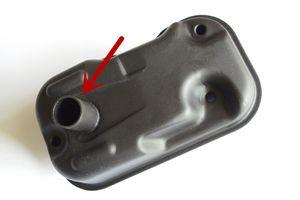 커버에 머플러 배기는 혼다 GXH50 GXV50 GXH50U GXV50U HANGKAI 3.5HP 계신 물 펌프 모어 발전기 부품 번호 18310-ZM7-003 / 801에 맞는