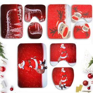 Accesorios de baño Alfombrilla de baño suave Alfombra de piso para ducha Alfombra de baño Cintas antideslizantes Juego de alfombrilla de baño de Navidad