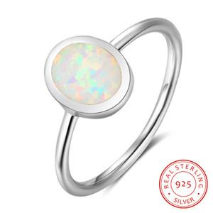 ultimo modello di anello reali fasce di nozze gioielli in argento 925 solitaire anello con bianco sintetico all'ingrosso anello di fidanzamento opale