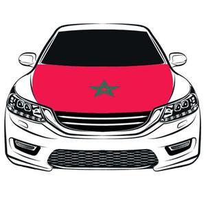 غطاء كأس العالم لكرة القدم المملكة المغربية غطاء محرك السيارة العلم 3.3X5FT 100 ٪ البوليستر ، علم المحرك ، الأقمشة المرنة يمكن غسلها