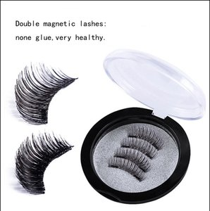 2018 fashion double 3D magnetic lashes,nice eyes fake bears,home garden and party arts and gifts