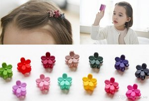 10Pcs Lot Cute Dull Polish Small Flower Kids Claw Clips Lovely Children Jewelry Accessories Baby Girls Headwear Boutique Barrettes Hairpin