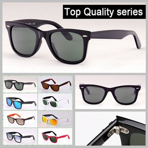 mens gafas de sol de las gafas de cristal eyeware uv lentes de protección solar para la señora con el paquete al por menor Caja de cuero de alta calidad