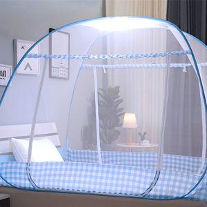 Zanzariera piegante blu rosa per il letto portatile della tenda della rete da letto del doppio letto per il baldacchino all'aperto della maglia Letto per bambini moustiquaire