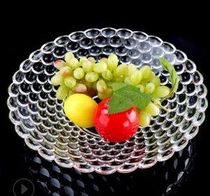 Crystal bead dot glass creative plate Wholesale fruit extra large bead dot fruit tray